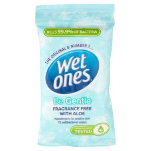 Wet Ones Be Gentle Sensitive Antibacterial Pack of 12 Wipes