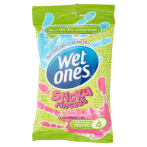 Wet Ones Sticky Fingers Pack of 12 Wipes